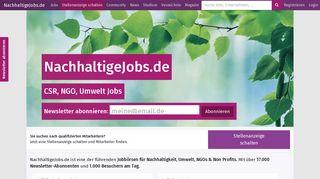 Nachhaltige Jobs